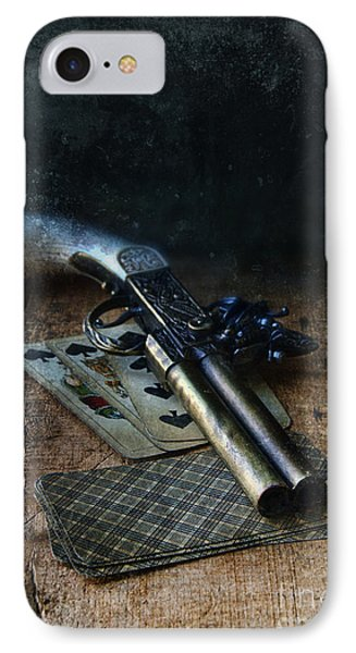 Flint Lock Pistol And Playing Cards IPhone Case by Jill Battaglia