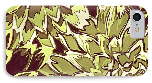 Floral Abstraction 19 Phone Case by Sumit Mehndiratta