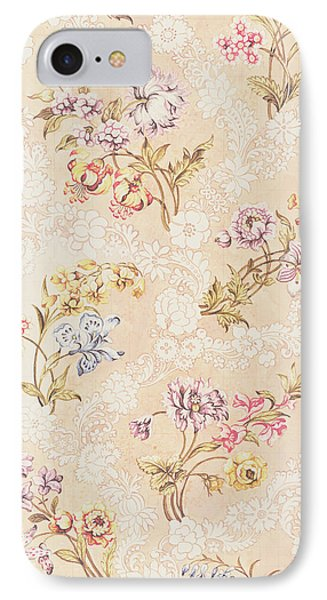 Floral Design With Peonies Lilies And Roses IPhone Case by Anna Maria Garthwaite