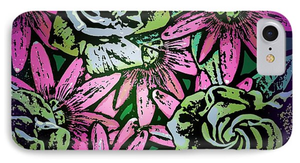 IPhone Case featuring the digital art Floral Explosion by George Pedro