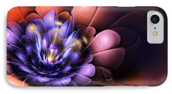 Floral Flame IPhone Case by John Edwards