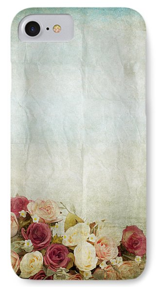 Floral Pattern On Old Paper Phone Case by Setsiri Silapasuwanchai