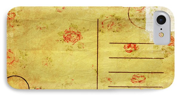 Floral Pattern On Old Postcard Phone Case by Setsiri Silapasuwanchai