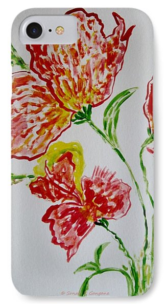 IPhone Case featuring the painting Florals by Sonali Gangane