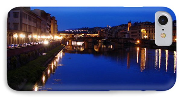 IPhone Case featuring the photograph Florence Arno River Night by Patrick Witz
