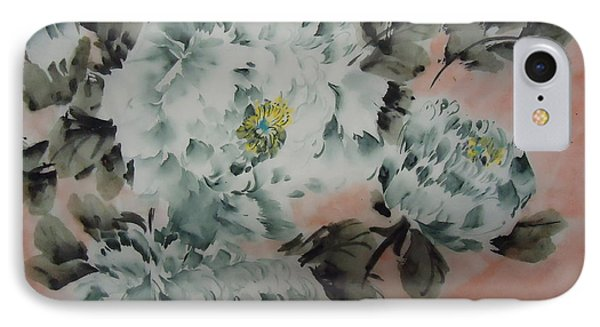 IPhone Case featuring the painting Flower 8152012--7 by Dongling Sun