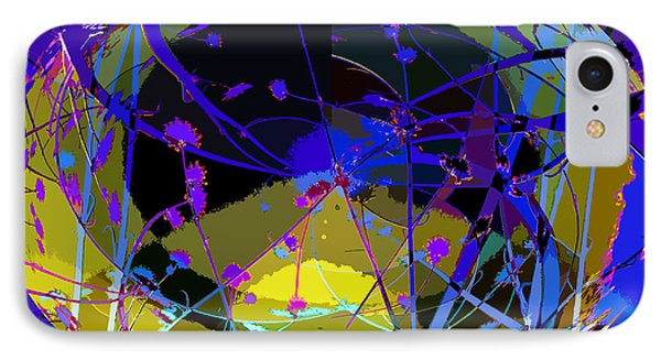 IPhone Case featuring the digital art Flower Abstract by Anne Mott