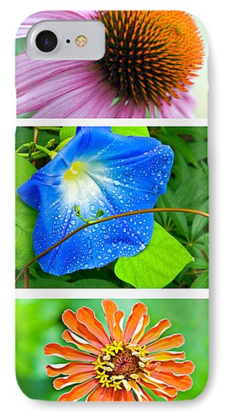 Flower Collage Part Two Phone Case by Susan Leggett