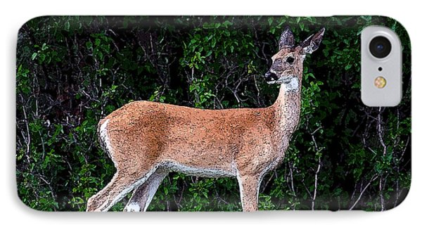 IPhone Case featuring the photograph Flower Deer by Steve McKinzie