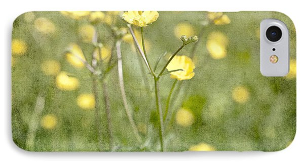 Flower Of A Buttercup In A Sea Of Yellow Flowers IPhone Case