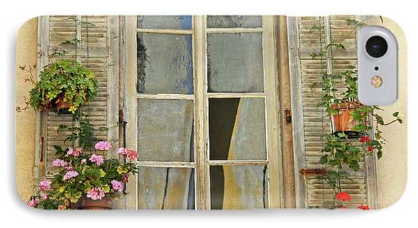 IPhone Case featuring the photograph Flower Window Provence France by Dave Mills
