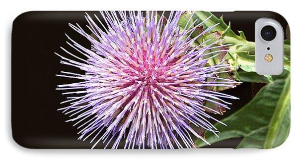 Flowering Artichoke Top View Phone Case by Byron Varvarigos