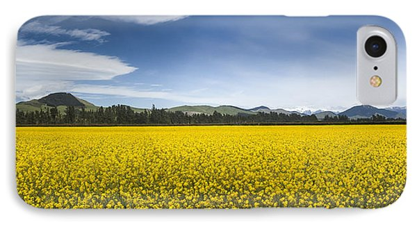Flowering Mustard Crop In Canterbury Phone Case by Colin Monteath