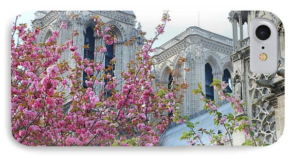 IPhone Case featuring the photograph Flowering Notre Dame by Jennifer Ancker