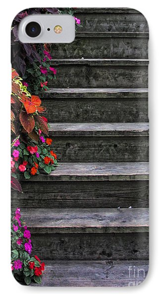 Flowers And Steps IPhone Case