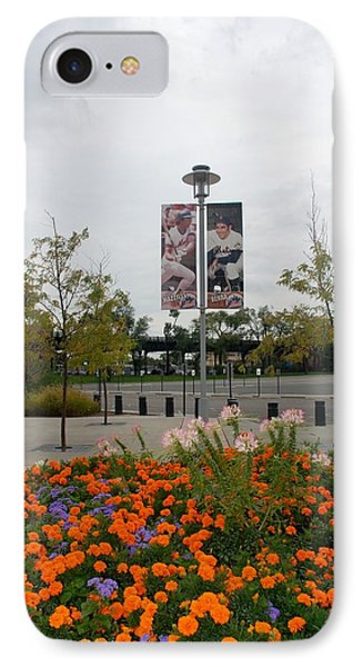 Flowers At Citi Field Phone Case by Rob Hans