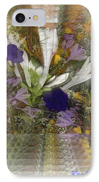 IPhone Case featuring the mixed media Flowers For You To Infinity by Ray Tapajna