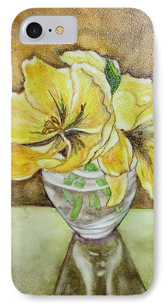 Flowers In Crystal Bowl IPhone Case by Mary Kay Holladay