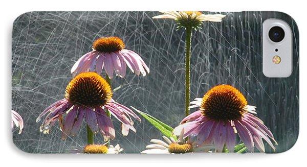 Flowers In The Rain IPhone Case by Randy J Heath