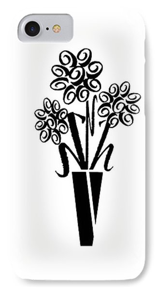 Flowers In Type IPhone Case by Connie Fox