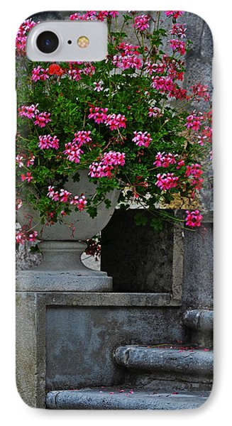 Flowers On The Steps Phone Case by Mary Machare