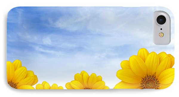 Flowers Over Sky Phone Case by Carlos Caetano
