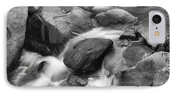 Flowing Water Down The Colorado St Vrain River Bw Phone Case by James BO  Insogna