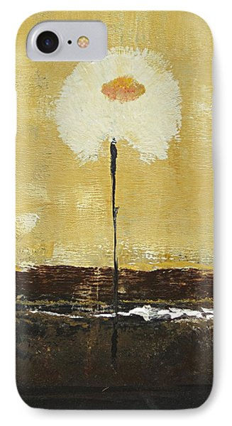 IPhone Case featuring the painting Fluff In White by Kathy Sheeran