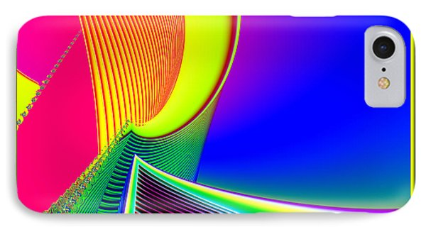 Fluorescent Boat And Giant Wave Fractal 95 Phone Case by Rose Santuci-Sofranko