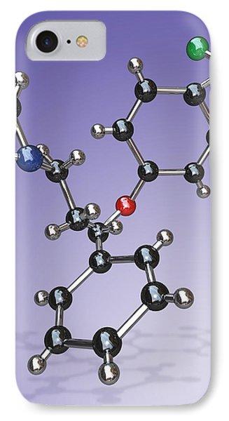 Fluoxetine Drug Molecule Phone Case by Miriam Maslo