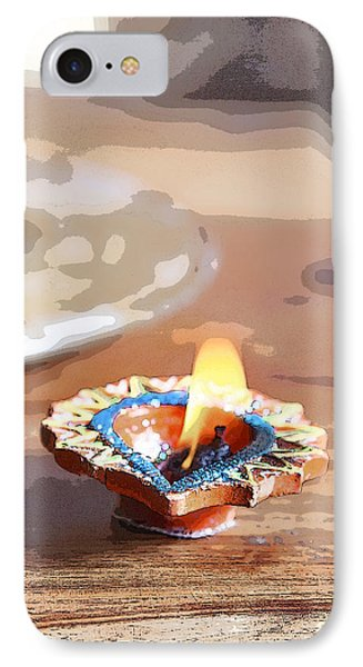 Fluttering Divali Holi Candle IPhone Case by Kantilal Patel
