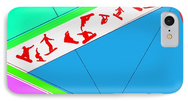 Flying Boards IPhone Case by Naxart Studio