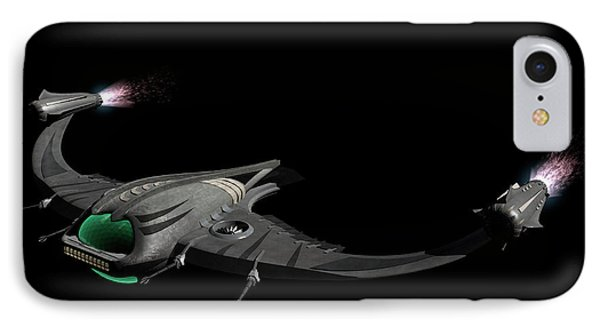 Flying Machine Inspired By The Martians IPhone Case by Rhys Taylor