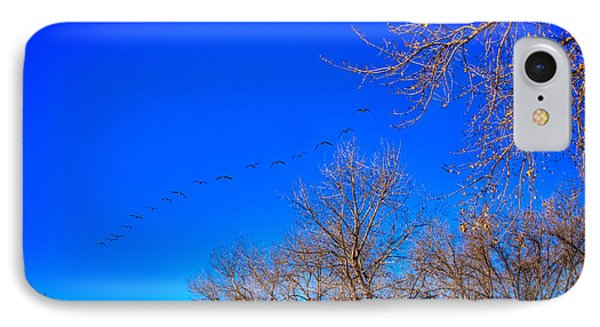 Flying Over South Platte Park Phone Case by David Patterson