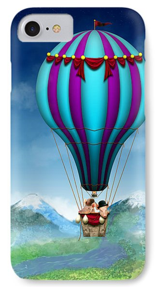 Flying Pig - Balloon - Up Up And Away Phone Case by Mike Savad