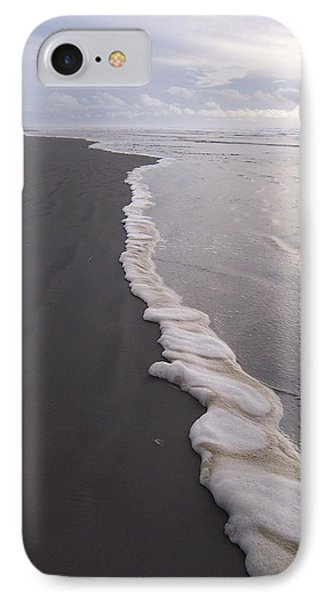 IPhone Case featuring the photograph Foamy Demarcation Line by Peter Mooyman