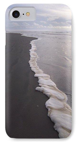 Foamy Demarcation Line IPhone Case by Peter Mooyman