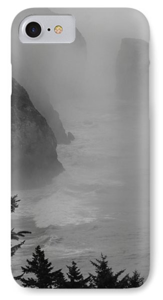 IPhone Case featuring the photograph Fog And Cliffs Of The Oregon Coast by Mick Anderson