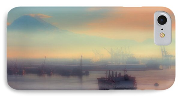 Fog Over The Tide Flats Phone Case by David Patterson