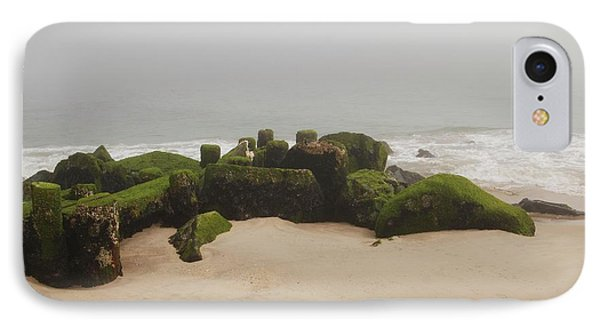 Fog Sits On Bay Head Beach II- Jersey Shore IPhone Case by Angie Tirado