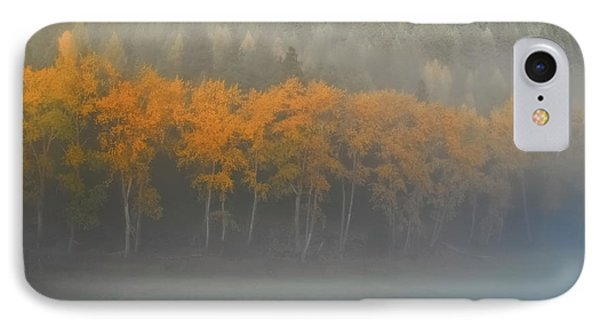 Foggy Autumn Morning IPhone Case by Albert Seger