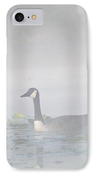 IPhone Case featuring the photograph Foggy Morning Goose by Gerald Strine