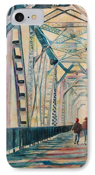 Foggy Morning On The Railway Bridge IIi IPhone Case by Jenny Armitage