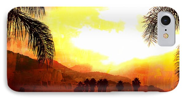 Foggy Palms IPhone Case by Sharon Soberon