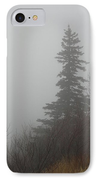 Foggy Sentinel Phone Case by Skip Willits