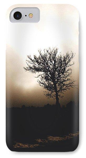 Foggy Winter Morning Phone Case by Ann Powell