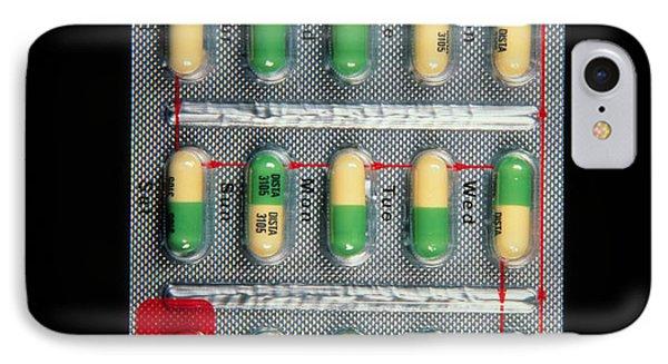 Foil Pack Of Prozac Pills Phone Case by Damien Lovegrove