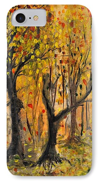 IPhone Case featuring the painting Foliage by Evelina Popilian