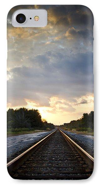 Follow The Tracks Phone Case by Carolyn Marshall