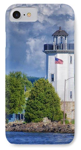 Fond Du Lac Lighthouse Phone Case by Joan Carroll